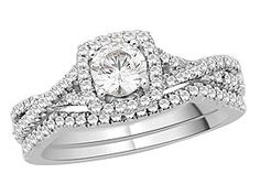 The Bridal Suite  18ct White Gold And Diamond Wavy Ring Set  78pts - 193207