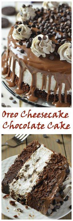 Oreo Cheesecake Chocolate Cake!