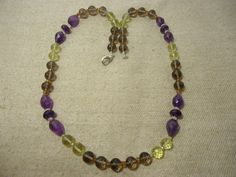 """Aaa+ Natural Assorted Multi Color Stone Balls Faceted 22"""" Necklace, 250 Cts. #Handmade #Faceted"""