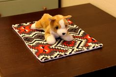 20 x 14.75 dog blanket/dog bed made in soft by PuppyPawzBoutique