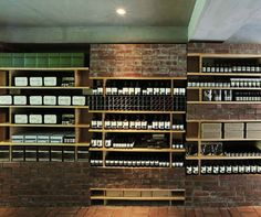 Aesop store interiors tend to focus around one material, and in this case Nagasaka has chosen red brick. A deliberate nod to the street's informal name ...
