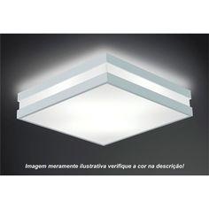 PLAFON QUADRADO MODULAR MD PRETO - Target Iluminação