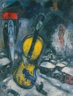Mouvement peinture on pinterest toile pintura and marc for Chagall tableau