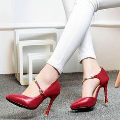 Shoespie Classy Shine Leather Stiletto Heels