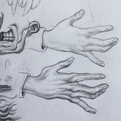 """2,097 Likes, 16 Comments - Vys (@vyscera) on Instagram: """"Studyin sum mitts #draw#drawing#art#sketch"""""""