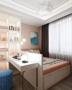 Small Room Design Bedroom, Small House Interior Design, Bedroom Closet Design, Home Room Design, Room Ideas Bedroom, Bedroom Designs, Small Basement Bedroom, Small Bedroom Interior, Condo Design