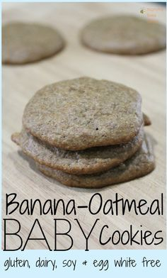 Banana Oatmeal Cookies for Baby Allergy-free recipe for homemade healthy Banana Oatmeal baby food cookies. Gluten free soy free dairy free egg white free The post Banana Oatmeal Cookies for Baby appeared first on Toddlers Ideas. Baby Food Recipes, Cookie Recipes, Snack Recipes, Food Baby, Healthy Baby Food, Banana Baby Food, Toddler Recipes, Baby Cookie Recipe, Allergy Free Recipes For Kids