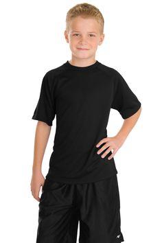 Sport-Tek Youth Dry Zone Raglan T-Shirt Y473 Black