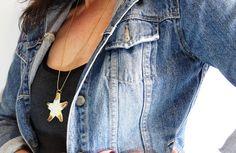 Etty Vardi - Unique porcelain jewelries by NaniByEttyVardi Nautical Necklace, Starfish Necklace, Star Necklace, Shell Necklaces, Turquoise Necklace, Mom Jewelry, Bridal Jewelry, Jewelry Design, Unique Jewelry