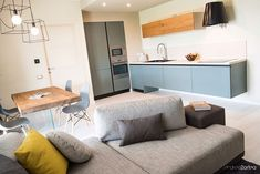 kitchen with laminate flooring Living Mash Up canadian oak Laminate Flooring, Cabinet, Storage, Kitchen, Furniture, Home Decor, Clothes Stand, Purse Storage, Cooking