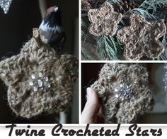 Under The Table and Dreaming: Twine Crocheted Stars featuring Jules from bles-id {Handmade Ornament No.4}