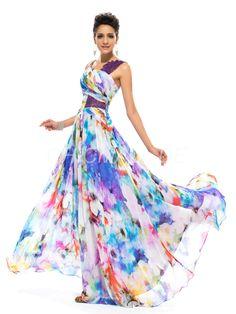 chicmall.de lieferungenriemen ziemlich pailletten floral designer jervis bay gedruckt, langen kleid Elegante Abendkleider
