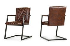 Modrest Lipan Modern Cognac Dining Arm Chair Set of 2 – Modlivingdecor.com