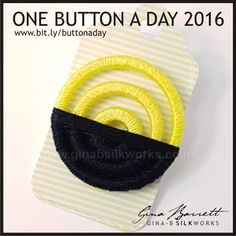 Day 323..... For those who just started in this group. Gina is presenting her handmade buttons daily on FACEBOOK. #buttonlove