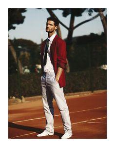Tomas Skoloudik Plays Stylish Tennis for Stag Magazine