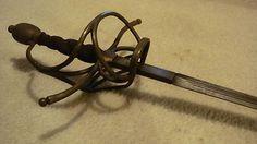 GERMAN 16th century SWEPT HILT Rapier antique MASSIVE Cavalry Sword