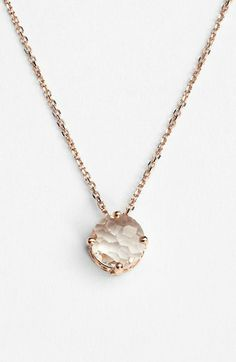 KALAN by Suzanne Kalan Round Stone Drop Necklace available at #Nordstrom