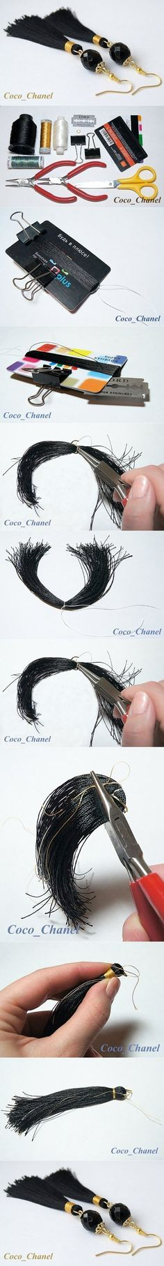 fringe earring tutorial