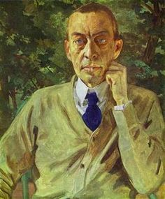 Portrait of the composer Sergei Rachmaninov