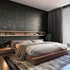 Beautiful Master Bedrooms with Modern Interior Decor - Gazzed - Designer bedroom design. Beautiful Master Bedrooms with Modern Interior Decor The Effective Picture - Bedroom Bed Design, Modern Bedroom Design, Home Decor Bedroom, Modern Interior Design, Fancy Bedroom, Bedroom Nook, Bedroom Rustic, Modern Bedroom Furniture, Teen Bedroom