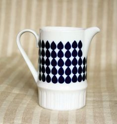 Milk jug, drop pattern.