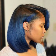 African American Black To Blue Ombre Bob bob hairstyles african american relaxed hair 60 Showiest Bob Haircuts for Black Women My Hairstyle, Girl Hairstyles, Black Hairstyles, Hairstyles 2016, Weave Hairstyles, Beautiful Hairstyles, Trending Hairstyles, Ponytail Hairstyles, Summer Hairstyles