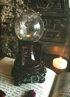 """artemis-storm: """" Be Enchanted ☽ᴏ☾ Moon Magick Sisters Shop """" Wish list! Clear quartz crystal ball on vintage style cast iron stand. Tarot, Wicca Witchcraft, Wiccan, Maleficarum, Spiritus, Season Of The Witch, Witch House, Witch Aesthetic, Book Of Shadows"""