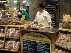 Miss Wegmans Grocery store.  The bakery turns out untold different kinds of bread, and they're all good.