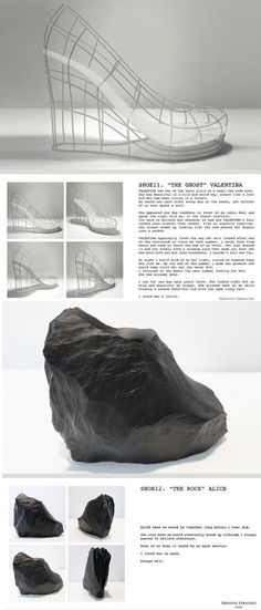 The Ghost & The Rock '12 SHOES for 12 LOVERS' by Chilean-born, New York-based designerSebastian Errazuriz.
