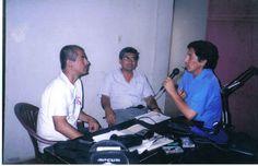 Conversando con Eleodoro Trinidad Ceyrico y Víctor Raul Espinoza Condorí en  la Radio.