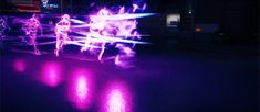 Neon Form Running And Jumping In inFAMOUS: Second Son #GAMEgifs