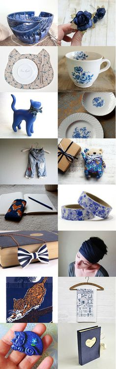 Saturday in the Blue by Camilla Agathe Lande Jensen on Etsy--Pinned with TreasuryPin.com