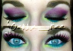 I Love Color..Lol #Purple #makeup #cosmetics #eyeshadow #eyemakeup #bright #colorful #fun #color #blueeyes #eyes