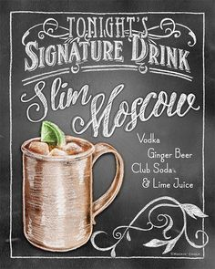 Signature Drink Signs - Chalkboard style Prints for Bar Decor at Weddings, Rehearsals, Parties from RockinChalk on Etsy. Saved to Rockin' chalk.