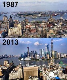 Shanghai, China - 26 years difference!