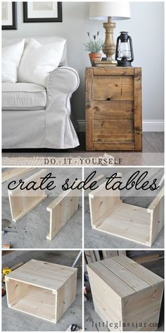 26 Best Rustic side table images | Carpentry, Woodworking, Pallet ...