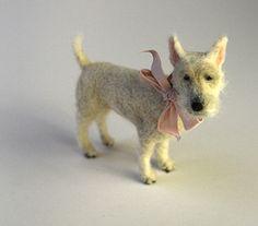 Domenica More Gordon - sweet little needle felted dog
