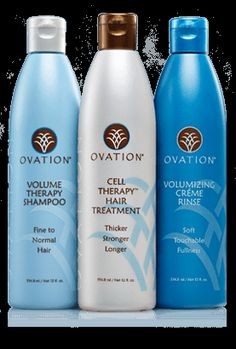 The Ovation Balance Cell Therapy System Includes Volume Shampoo Hair Treatment Amps Moisturizing Crème Rinse To Provide Body And