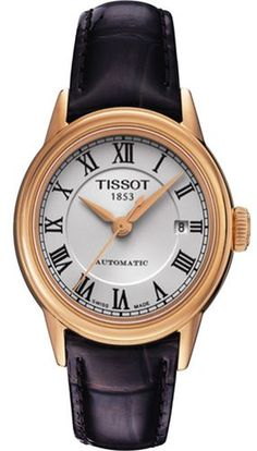 7c255a4b8bf1 TISSOT T0852073601300 CARSON WOMEN S AUTOMATIC WHITE CLASSIC ROMAN NUMERAL  WATCH Luxury Watches