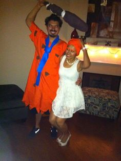 fred and wilma the flintstones costume halloween - Halloween Flintstones