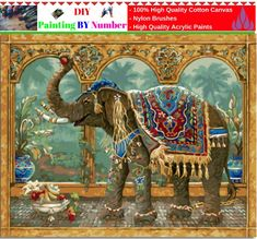 """Like and Share if you want this  DIY Painting By Number – Indian Elephant (16""""x20"""" / 40x50cm)     Tag a friend who would love this!     FREE Shipping Worldwide     Buy one here---> https://artgiftworld.com/diy-painting-by-number-indian-elephant-16x20-40x50cm/"""