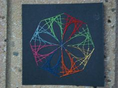 7th grade string art (with no nails!) More