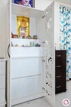 Pooja Room Door Design, Home Room Design, Design Bedroom, Kitchen Design, House Design, Temple Design For Home, Living Room Wall Units, Room Partition Designs, Puja Room