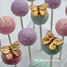Butterfly Cakes, Butterfly Party, Butterfly Birthday, Raspberry Smoothie, Apple Smoothies, Cakepops, Chocolate Butterflies, Garden Party Cakes, Cake Pop Designs