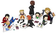 "bahaha baby avengers :) ""I'm sorry, what? The cuteness was too loud."""