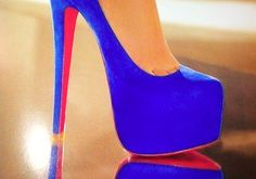 everyone should have at least one pair of  blue heels :)