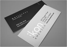 Clean and simplistic business card.