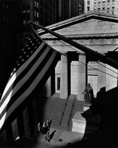 Berenice Abbott / Treasury Building, at the corner of Wall and Nassau Streets, 1933