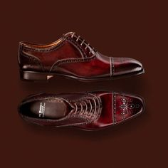 Red Leather Wingtips DiBianco