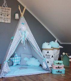 Teepee set Imaginary Friend / Kids /Play /Tent by MamaPotrafi Childrens Teepee, Teepee Kids, Teepee Tent, Play Teepee, Teepees, Toddler Teepee, Baby Bedroom, Girls Bedroom, Bedroom Ideas
